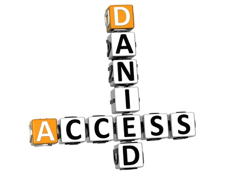 3D Danied Access Crossword on white background photo