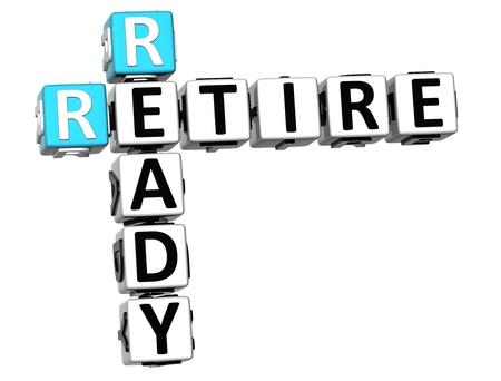 prendre sa retraite: Attendez-vous � 3D crois�s R�sultats sur fond blanc Banque d'images
