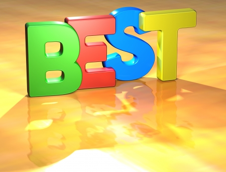 Word Best on yellow background (high resolution 3D image) photo