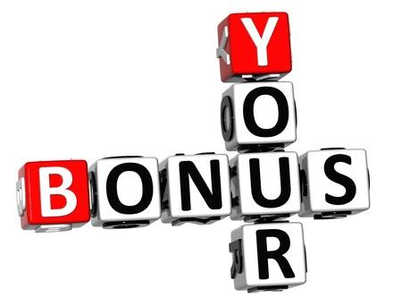 3D Your Bonus Crossword on white background