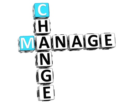 manage: 3D Change Manage Crossword on white background Stock Photo