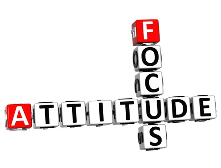 3D Focus Attitude Crossword on white background Stock Photo - 13700706
