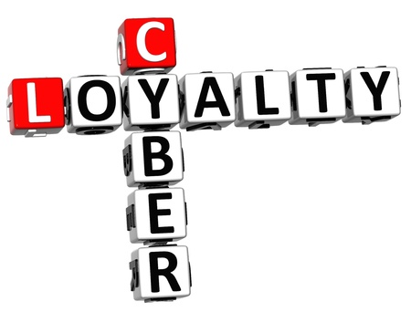3D Cyber Loyalty Crossword on white background photo