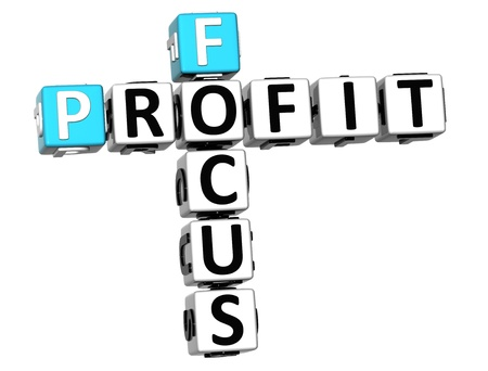 3D Focus Profit Crossword on white background Stock Photo - 13700715