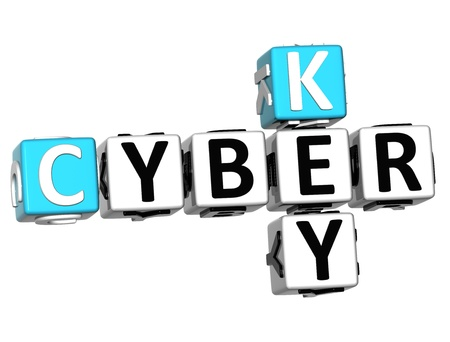 3D Cyber Key Crossword on white background Stock Photo - 13700774