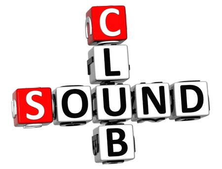 3D Sound Club Crossword on white background photo