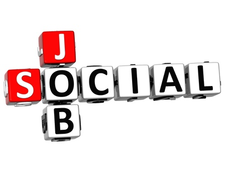 3D Social Job Crossword on white background Stock Photo - 13730637