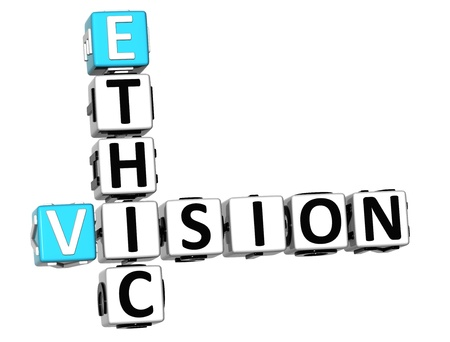 3D Ethic Vision Crossword on white background photo