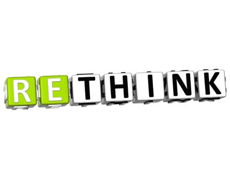 3D Rethink Crossword on white background