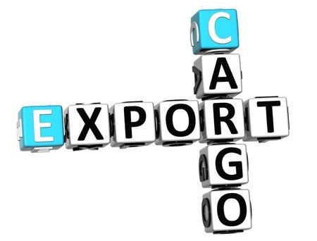 3D Cargo Export Crossword on white background Stock Photo - 13794783
