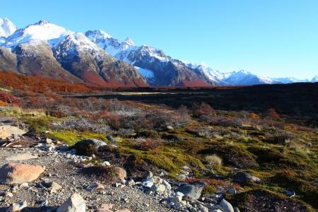 山フィッツロイ ロスグラシアレス国立公園、パタゴニア、アルゼンチンでのような美しい自然の風景