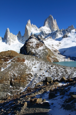 el calafate: Beautiful nature landscape with Mt. Fitz Roy as seen in Los Glaciares National Park, Patagonia, Argentina