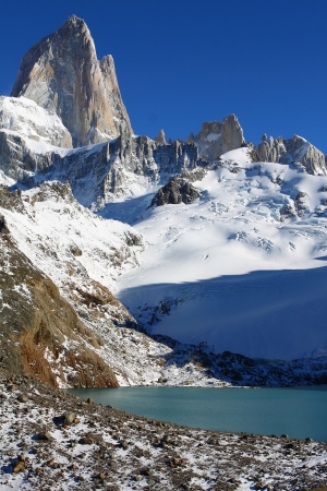 Beautiful nature landscape with Mt. Fitz Roy as seen in Los Glaciares National Park, Patagonia, Argentina Stock Photo - 13796932