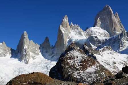 el chalten: Beautiful nature landscape with Mt. Fitz Roy as seen in Los Glaciares National Park, Patagonia, Argentina