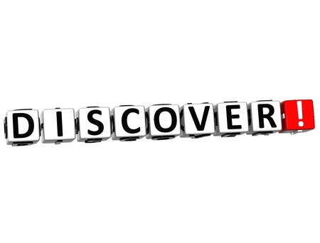 3D Discover Crossword on white background photo