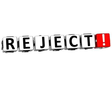reject: 3D Reject Crossword on white background Stock Photo