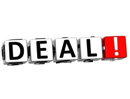 estimate: 3D Deal Crossword on white background Stock Photo