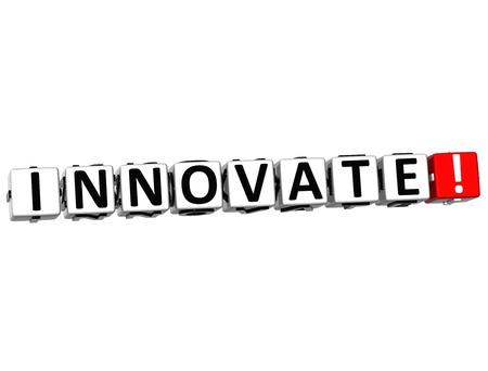 3D Innovate Crossword on white background