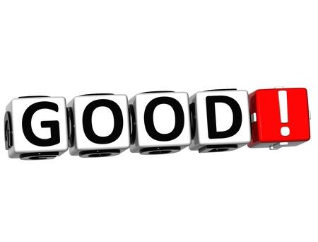 3D Good Crossword on white background Stock Photo - 13857449
