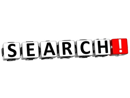 3D Search Crossword on white background Stock Photo - 13857421