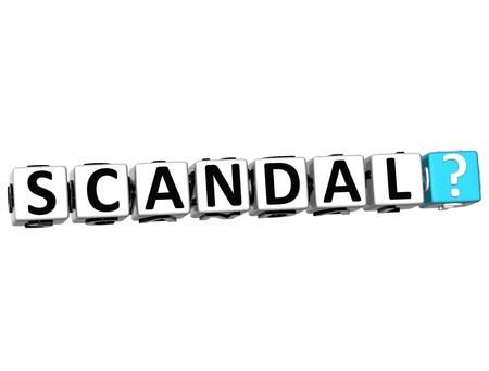 scandal: 3D Scandal Crossword on white background
