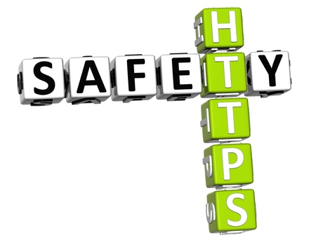 3D Safety Https Crossword on white background photo