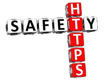 3D Safety Https Crossword on white background Stock Photo - 13925546