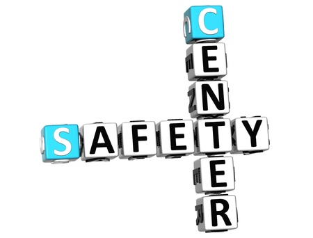 3D Safety Center Crossword on white background Stock Photo - 13925431
