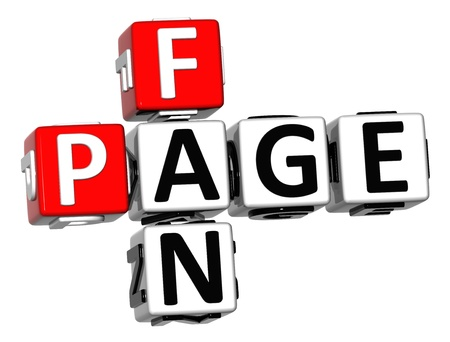 3D Fan Page Crossword on white background photo