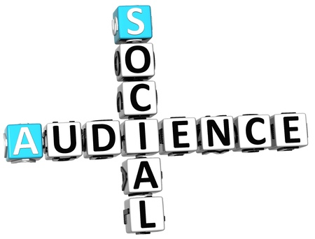 3D Social Audience Crossword on white background Stock Photo - 13925468