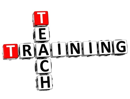 wariety: 3D Teach Training Crossword on white background