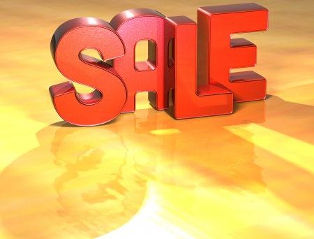 Word Sale on yellow background (high resolution 3D image) photo