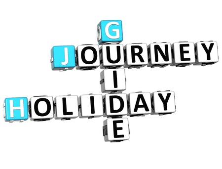 wariety: 3D Journey Holiday Guide Crossword on white background