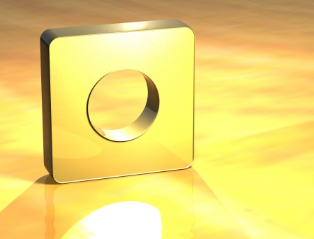 gold record: 3D Record Gold Sign over yellow background