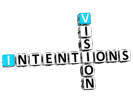 3D Vision Intentions Crossword on white background photo