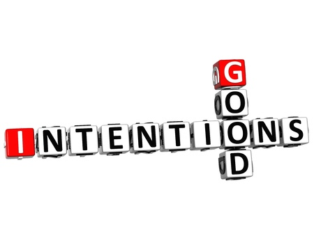 3D Good Intentions Crossword on white background photo