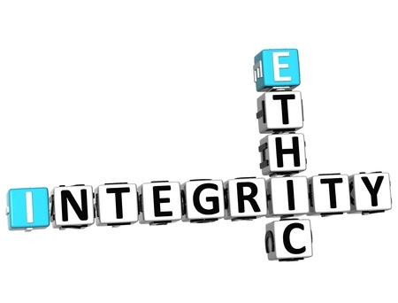 ethic: 3D Integrity Crossword Ethic su sfondo bianco