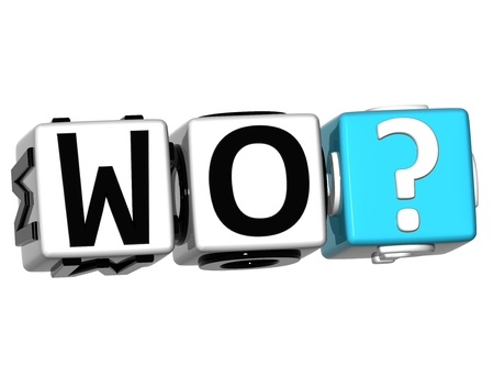 3D German Question Button Click Here Block Text over white background Stock Photo - 14183702