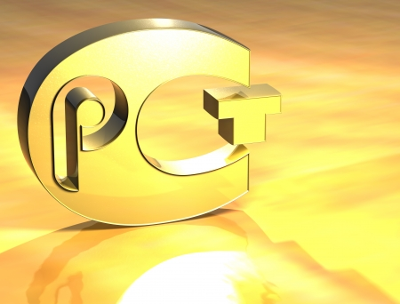 pct: 3D Certificat PCT Gold Sign over yellow background