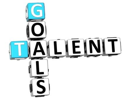 3D Goals Talent Crossword on white background photo