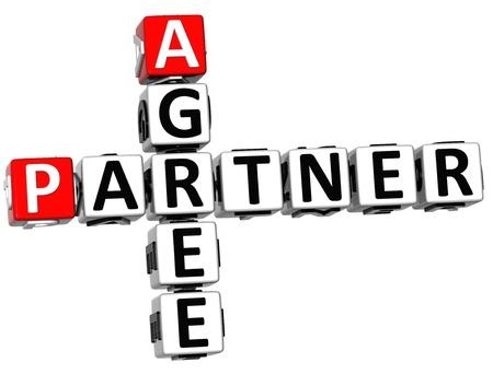 agree: 3D Agree Partner Crossword on white background