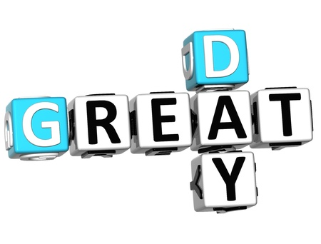 3D Great Day Crossword on white background photo