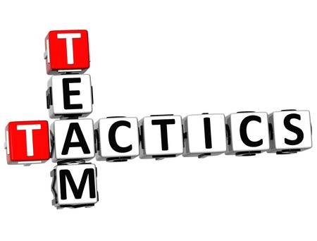3D Team Tactics Crossword on white background photo
