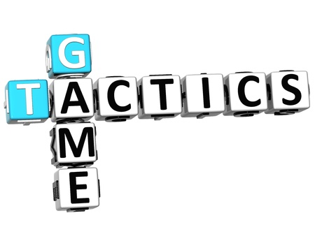 3D Game Tactics Crossword on white background photo