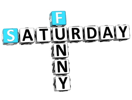 3D Funny Saturday Crossword on white background Stock Photo - 14320511