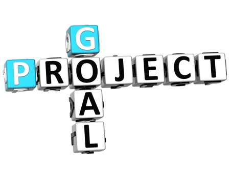 3D Goal Project Crossword on white background Stock Photo - 14378119