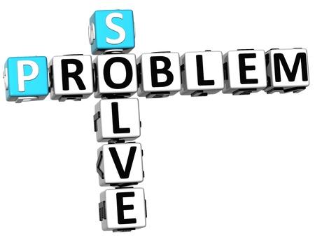 3D Solve Problem Crossword on white background photo