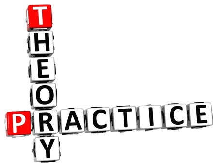 practise: 3D Theory Practice Crossword on white background