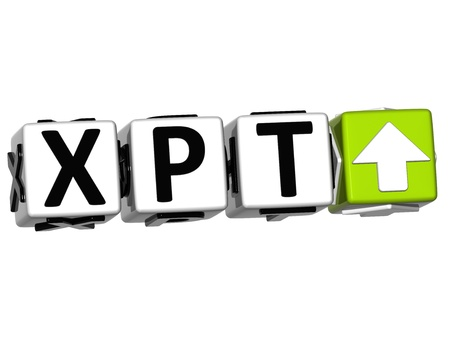 3D XPT Button Click Here Block Text over white background Stock Photo - 14555566