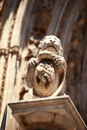 Statue of the Cathedral of Toledo, Spain  photo